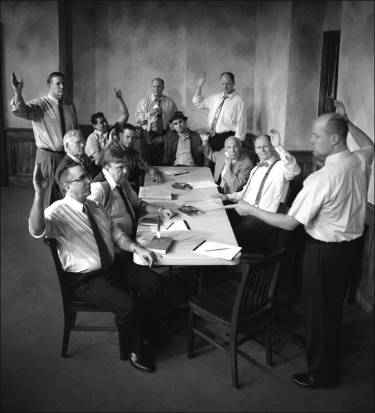 essay about twelve angry men Reginald rose's play, twelve angry men, takes place in the 'jury-room of the new york court of law' in 1957, and explores how the persistence and.