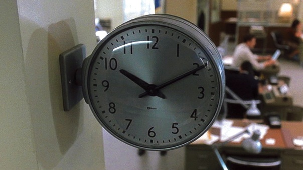 "An image from Christian Marclay's ""The Clock"""