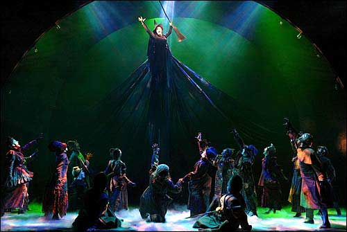 An image from the musical Wicked.