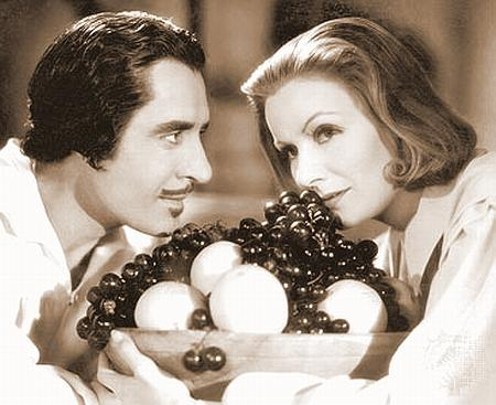 John Gilbert and Greta Garbo in Queen Christina