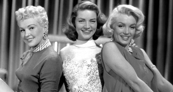 Betty Grable, Lauren Bacall, Marilyn Monroe