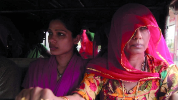 Photograph of Frieda Pinto and another actress)