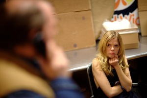 Dreama Walker has a very bad day at work in Compliance