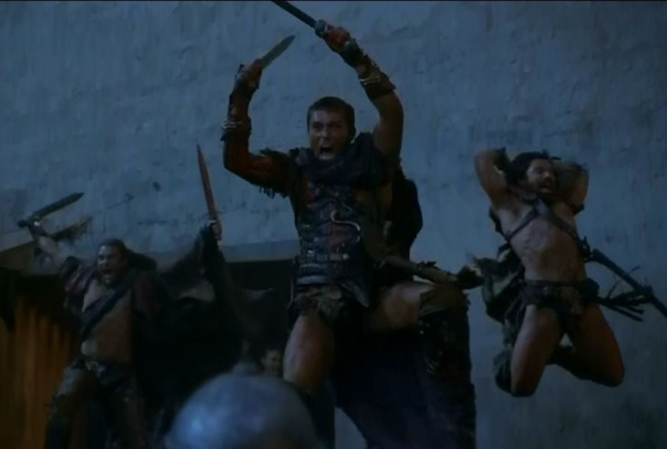 Gannicus, Spartacus and Crixus