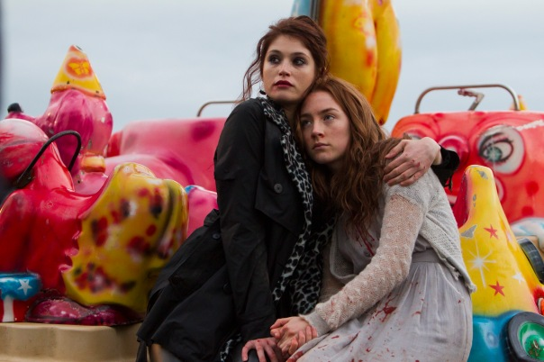 Gemma Arterton (Clara Webb) and Saoirse Ronan (Eleanor Webb) in BYZANTIUM
