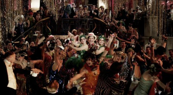 Party scene from The Great Gatsby