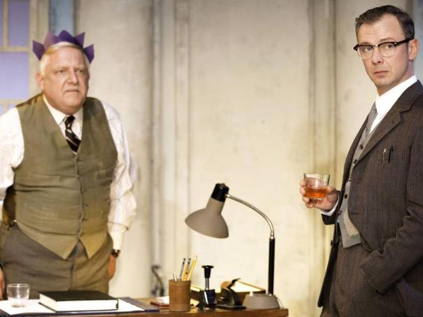 Simon Russell Beale and John Simm in The Hothouse.