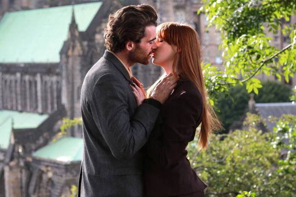 Stanley Weber and Karen Gillan do their best in Not Another Happy Ending.