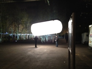 A giant glowing Nurofen, yesterday