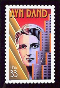 The night Ayn Rand destroyed Manhattan commemorated on a postage stamp