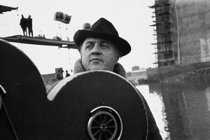Would you trust a man like this with a first-century satirical text? Federico Fellini on the set of Satyricon