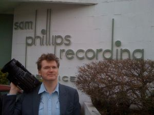 Our fearless correspondent outside Sun Studios in Memphis