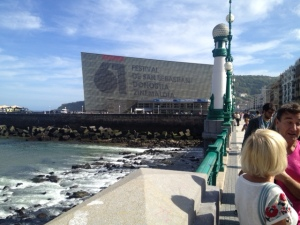 The Kursaal in San Sebastian, where people watch films - sometimes having paid money to do it
