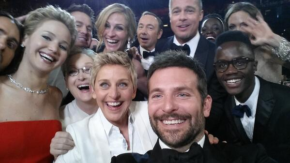oscar nominees selfie