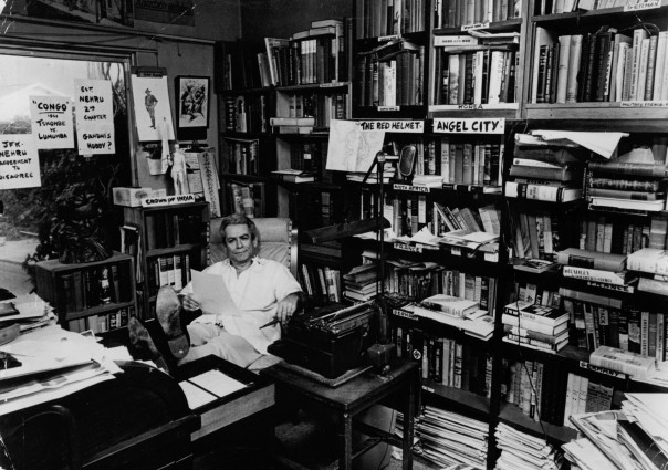 Sam Fuller in his office.