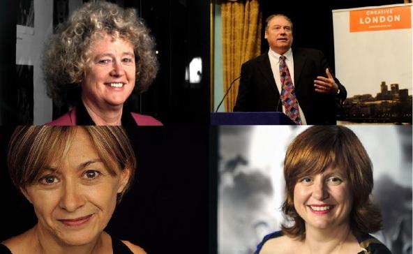 LFF directors, 1989-2014. Top row: Sheila Whitaker (1987-1996), Adrian Wootton (1997-2001). Bottom row: Sandra Hebron (2002-2011), Clare Stewart (2012- ).