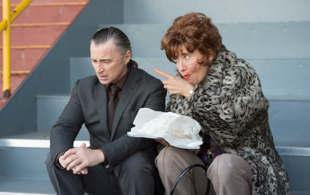 Robert Carlyle & Emma Thompson in THE LEGEND OF BARNEY THOMPSON, in cinemas 24th July