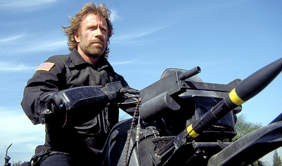 Chuck Norris in The Delta Force (as featured in Electric Boogaloo