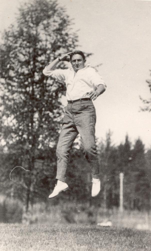 Dziga Vertov mid-jump
