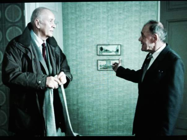 You even get an low-key but intense thesp-off between gloriously hammy old stagers Frank Langella & Bruno Ganz, which I certainly wasn't expecting, and will probably take you a bit by surprise as well. Ah, damn, I've ruined it for you. This is, of course, only the second-best Frank/Bruno photo in existence.