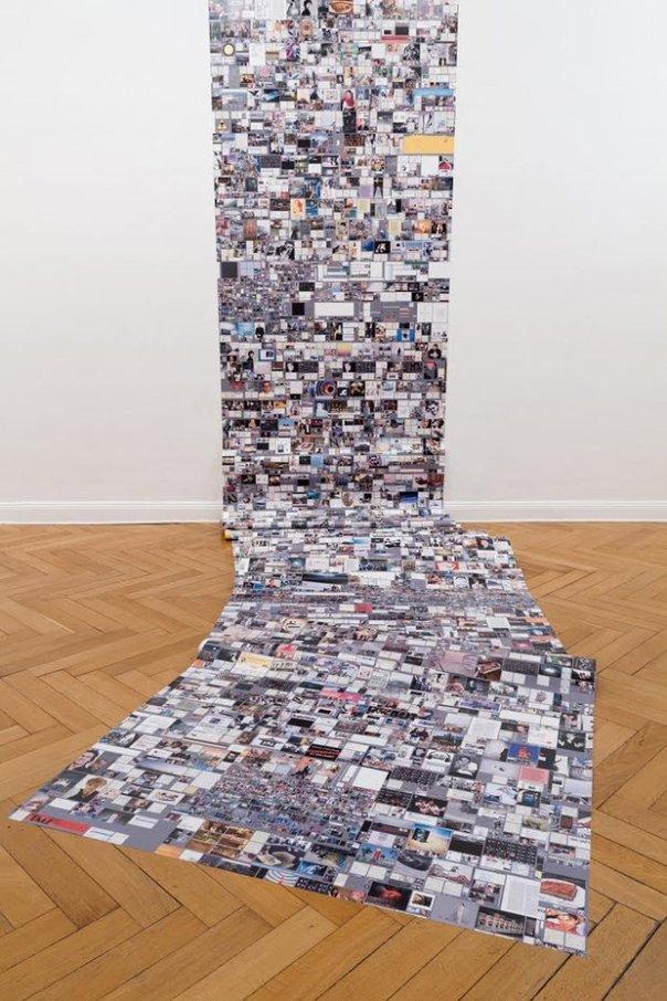 Evan Roth 'Self Portrait JULY 17, 2012'