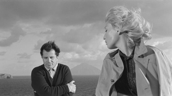 Gabriele Ferzetti and Monica Vitti in L'Avventura