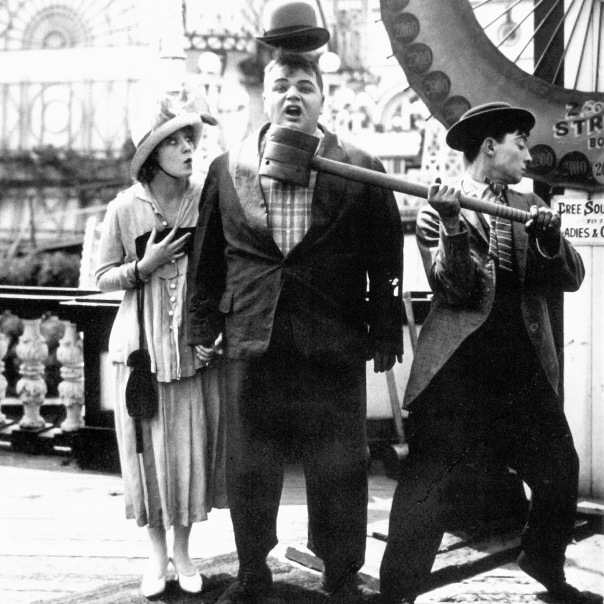 """Roscoe """"Fatty"""" Arbuckle and Buster Keaton in Coney Island"""