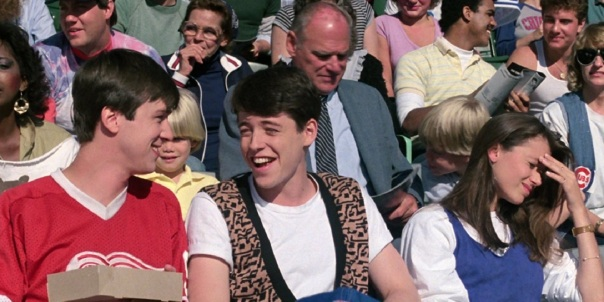 Alan Ruck, Matthew Broderick and Mia Sara in Ferris Bueller's Day Off