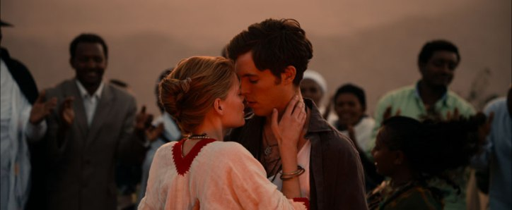 Mary and Christy kiss in Ethiopia in Dare to be Wild