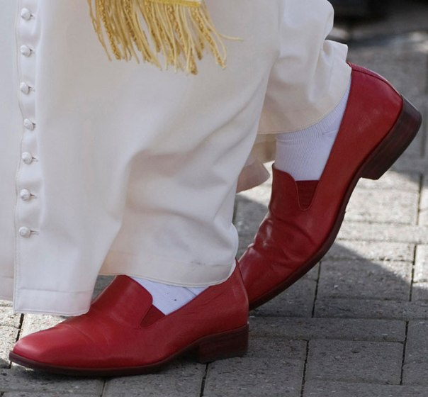 Papal red shoes in The Young Pope